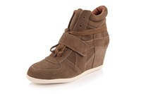 2013 Autumn big brand Isabel Marant  Bekket high-top cow leather trainers