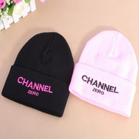 New 2014 Autumn Women Bone Gorro GD CHANNEL ZERO Harajuku Knitted Hat Fashion Beanies Warm Beanie Women Winter Cap For Girls