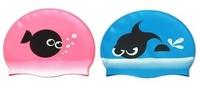 Child swimming cap male female child silica gel swimming cap swimming cap cartoon dollarfish goggles swimming cap