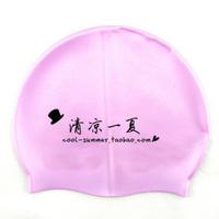 Silica gel swim cap solid color swimming cap waterproof comfortable general multicolor