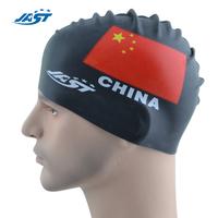 Silica gel swimming cap flag waterproof ear solid color swimming cap swimming cap 206