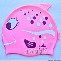 Yingfa britain child animal print graphic patterns cartoon swimming cap