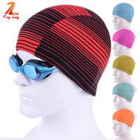 Swimming cap simple fashion male Women solid color cotton cap excellent elastic swimming cap