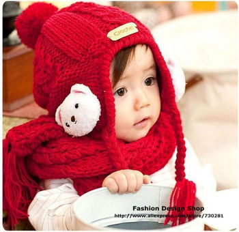 New arrival 1lot of 5pcs Cute cartoon 3D bear Bomber Hats hari accessories for baby girls over1-6years free shipping CZR045
