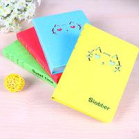 Korea stationery animal cutout cat notepad diary candy color tsmip notebook Free shipping