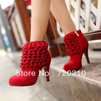 Fashion trend of the fashion female boots genuine leather nubuck leather stiletto boots female boots