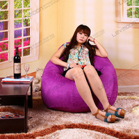 FREE SHIPPING bdiy bean bag cover no filling tear drop bean bags online purple SUEDE INDOOR  baby bean bags