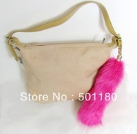 Free shipping fashion fox fur tail key chain wholesale price for bag accessory