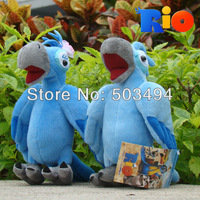 Rio Cute Plush Blu & Jewel Toy 2PCS Stuffed Animaml Blu Parrot Bird Soft Doll 8.5inch Retail Free Shipping