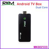 Free Fedex - Rikomagic RKM MK802IIIS Duad Core Android TV Box Mini PC RK3066 1GB DDR3+8GB Build in Bluetooth WiFi - 20pcs/lot
