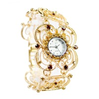 Free Shipping Antique Silver Crystal Rhinestone Women Girls'Lady Alloy Quartz Adjustable Wrist Watch Fashion Brac