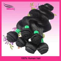 "Brazilian Human Remy Hair Water Wave, Body Wave Natural Color No Sheding 12""-24"" 4Bundles/Lot, Total 14OZ ,DHL Free Shipping"