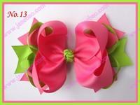 "free shipping fashion 35pcs 8"" big ring hair bows large boutique hair bows"
