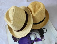 Free Shipping 2013 child straw braid fedoras bonnet strawhat