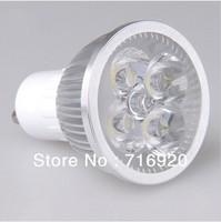 4W LED spotlight GU10 AC220V 110V aluminum led bulb lamp for home decoration, free shipping
