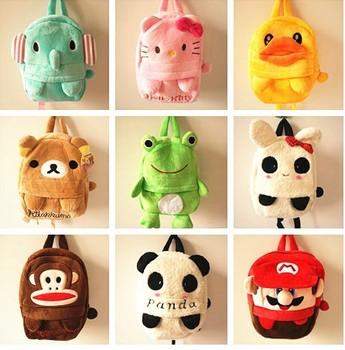 Plush toys plush animal plush Bag backpacks School Bag more popular children style color 16 style animal
