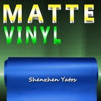 Air Free Light Blue Metallic Matte PVC Car Wrapping Vinyl 1.52*30M