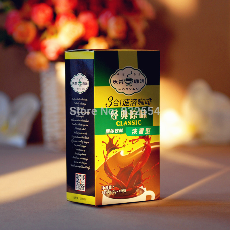 Original instant coffee classic 3 in one instant coffee boxed 15 luzhou flavor