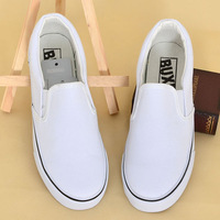 A217 hand painting blank shoes pedal canvas shoes female foot wrapping morning shoes white shoes