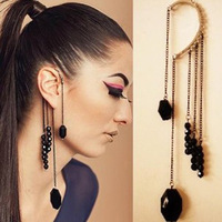 C1410 beaded evening dress long section slice personalized long tassel ear hook European and American trade jewelry wholesale mi