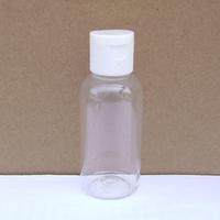 Freeshipping Wholesale 40ml Plastic Lotion Bottle Clamshell Tranparent PET Cosmetic Jar Refillable Plastic Bottle