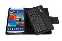 DHL Free Shipping, New Arrival, Bluetooth Keyboard with case for Samsung Galaxy Tab3 T310, keyboard with soft PU leather case