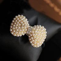 Korean fashion exquisite pearl diamond bow hair ring hair rope hair accessories hair ring hair rope hair accessories wholesale