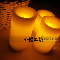 Free shipping 3pc Cylindrical led candle lamp birthday candle romantic electronic  led candle light Electronic LED Tealight