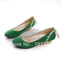 OL essential work shoes suede wedge heel low heel queen shoes large size shoes 33-45 free shipping 5 colors optional