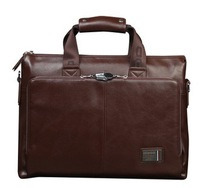 commercial PU leather laptop bags for men  briefcase handbag fashion notebook bag  14 15 inch Free shipping