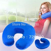 Free Shipping Slow Rebounding U Shaped Memory Pillow Velvet Neck Support Pillow
