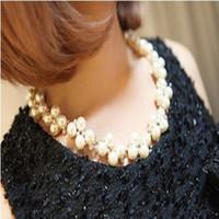 Please Miss X6305 Korean jewelry gold necklace with diamond pearl bracelet wholesale bridal suite