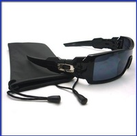 Free shipping Unisex Sport Biker Golf Black Full Frame Sun glasses with Bag Case color black