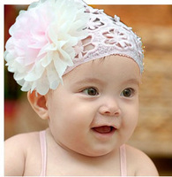 Free Shipping (10pcs/Lot)2013 Infant Hair Accessories New & Hot Flower Baby Wide Hair Band Cute Headband Princess Lace Headwear