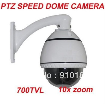 700TVL 10X zoom indoor 3.5 inch mini ptz speed dome cctv camera constant speed dome camera