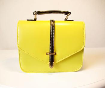 Candy color neon color magnetic buckle PU handbag shoulder bag messenger bag small bag shaping bag soft