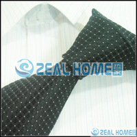Men's neckties,business ties,100%silk shirts ties+handkerchief+cuff button,black grid tie with white dots ,d230