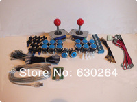 Arcade parts Bundles kit With Joystick,chrome Pushbutton,Microswitch,2 player USB to Jamma Build Up Arcade Machine
