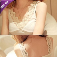 Free Shipping! Fashion Summer Shirt Sexy V-neck Lace Strap Vest for Women 390