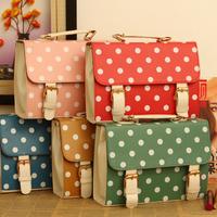 2013 bag women's handbag candy vintage messenger bag messenger bag cosmetic bag polka dot women's handbag
