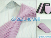 Men's neckties,business ties,100%silk shirts ties+handkerchief+cuff button,pink grid tie with white dots ,d231