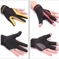 Snooker advanced gloves billiard  snooker three finger  leakage gloves