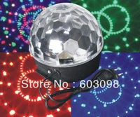 6X3W LED RGB Crystal Magic Ball Light 18W LED Effect Light RGB Stage Lighting Fast Shipping