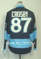 Free Shipping, #87 Sidney Crosby Winter Classic Kids/Youth Hockey Jersey,Ice Hockey jersey,Embroidery logos,size S--XL,Mix Order