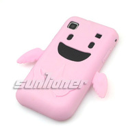 For samsung   i9001 galaxy s plus silica gel sets protective case mobile phone case pink