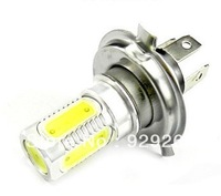Free shipping High Power White H4 7.5W Car LED Headlight  SMD DC 12V/PCS