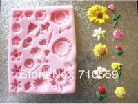 cake  mold Baking Tools / mini flower silicone resin mold fondant cake mold sugar flower