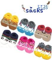 Children slip-resistant socks floor socks set towel socks autumn and winter thickening cartoon kid's socks small animal