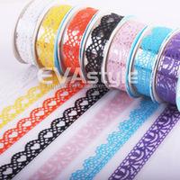 Wholesale Small lace Adhesive tape  fresh stationery decoration stickers notepad decoration belt tape