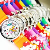 Hot Sale! Free shipping 10pcs Hello Kitty Boys Girls Fashion Casual Cartoon Children's Silicone Watch Gift  Wrist Watches, C12
